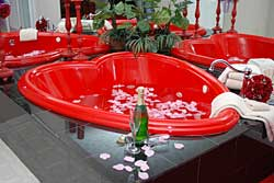 Heart Shaped Jetted Tub for 2